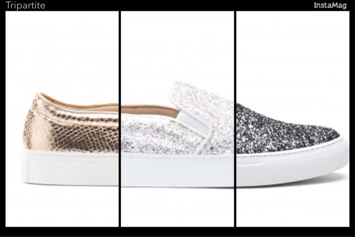 L'autre chose slip on, glitter for summer 2015