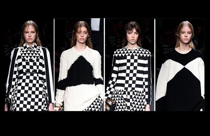 black and white for Valentino