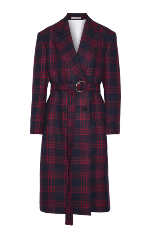 CALVIN KLEIN 205W39NYC Oversized double-breasted checked wool coat