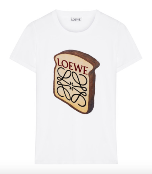 LOEWE Toast printed stretch-cotton T-shirt