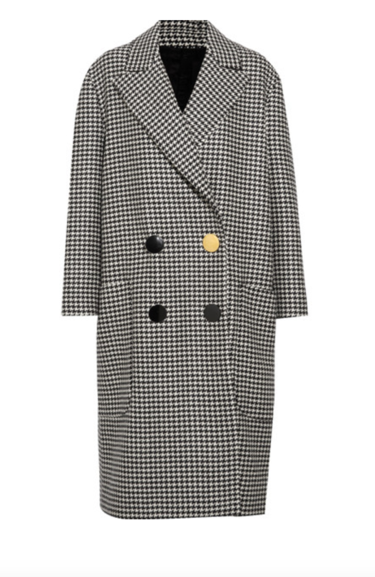 PETAR PETROV Double-breasted houndstooth wool coat